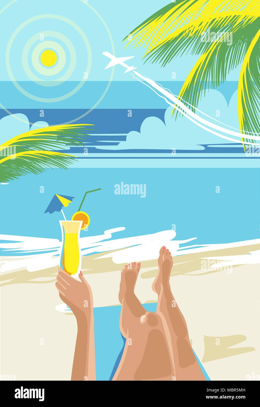 hello summer summer holidays and tropical vacation posters or