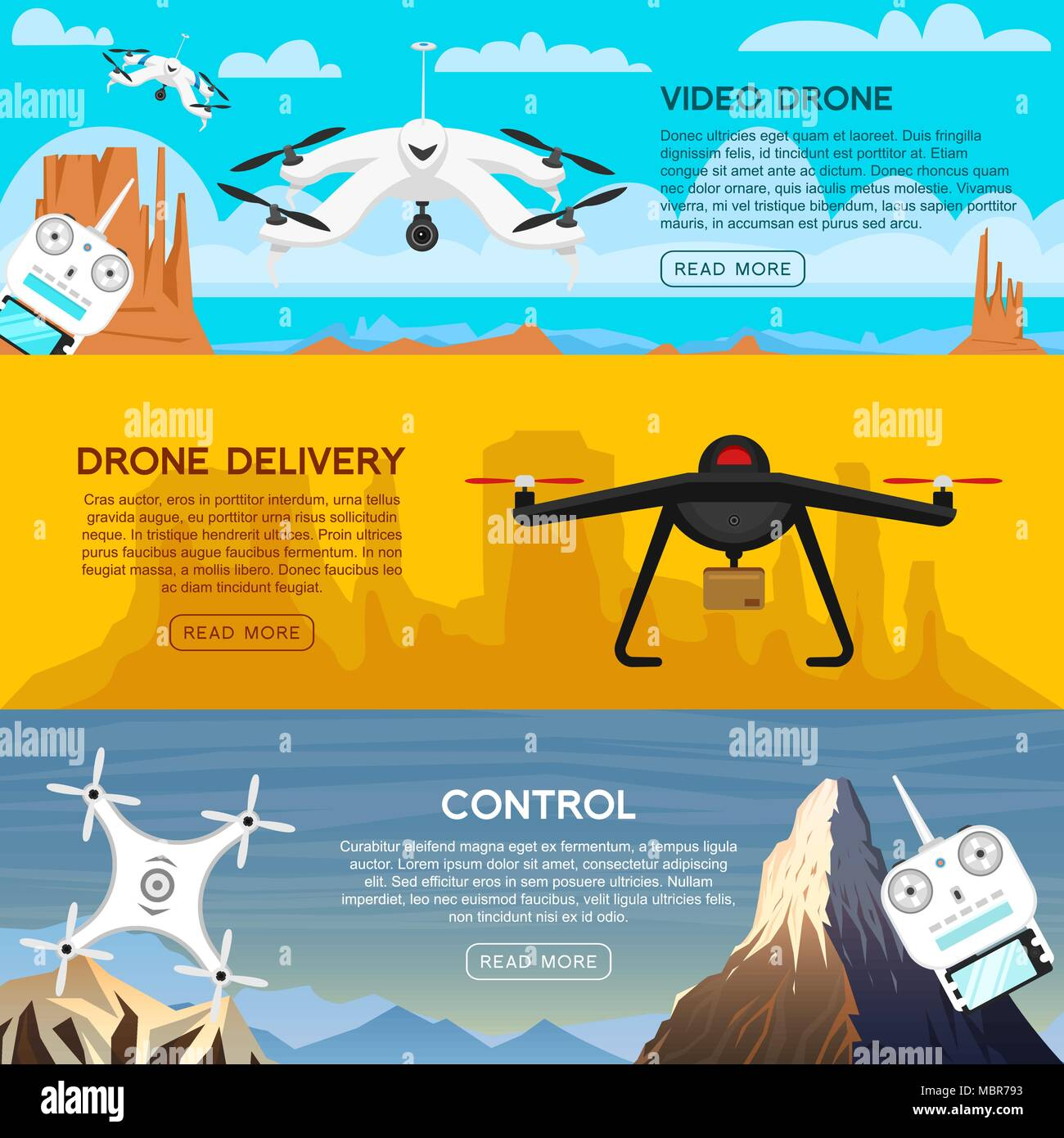 Modern air drones for card and remote control  Video and photo and