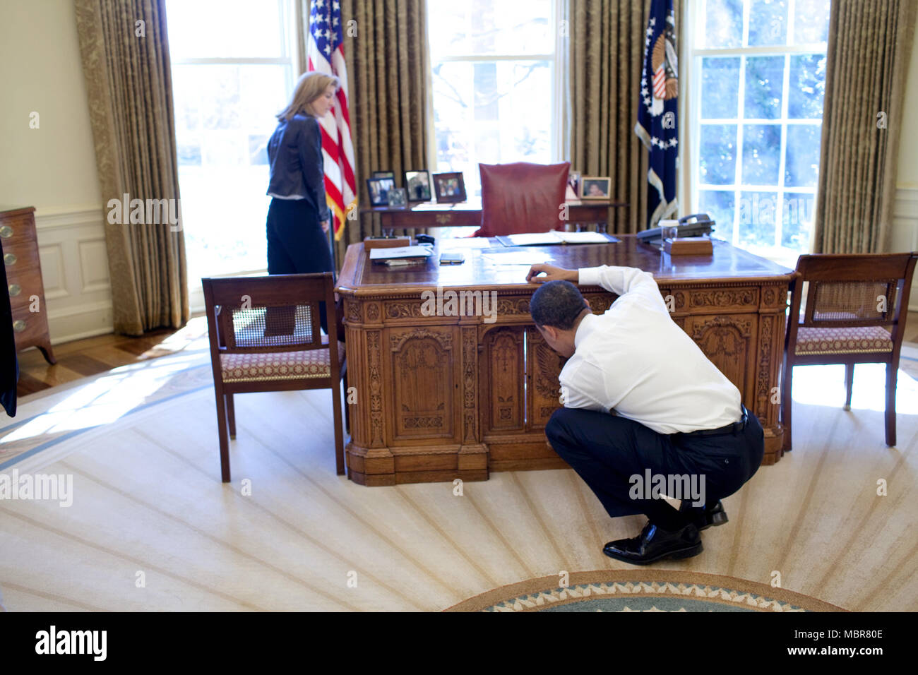 oval office july 2015. President Barack Obama Examines The Resolute Desk On March 3, 2009, While Visiting With Oval Office July 2015