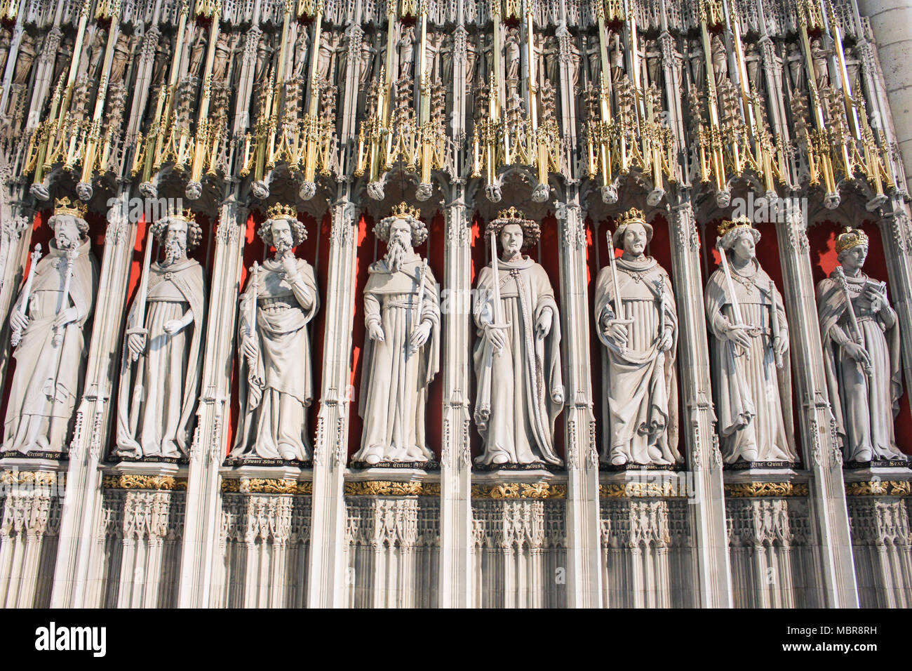 Kings Screen in York Minster (England) - Stock Image