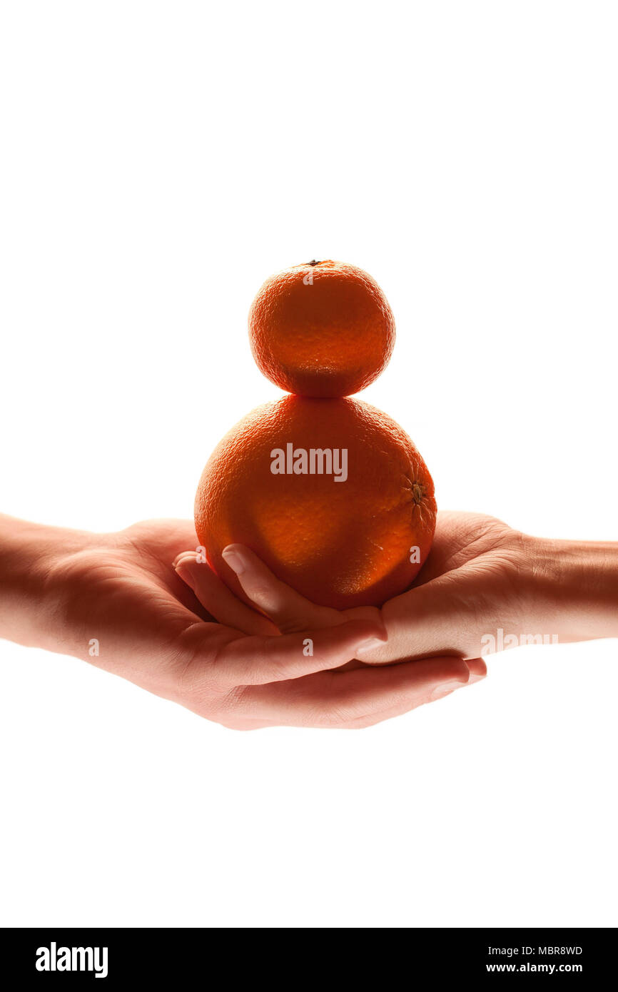Touching hands - warm mood Stock Photo