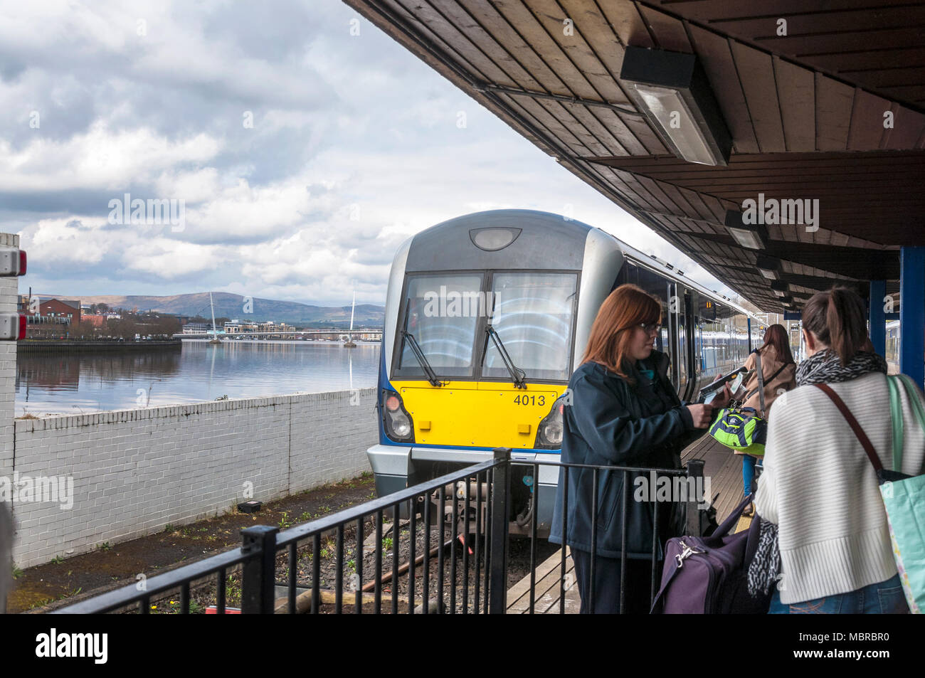 Railway station, Derry City, Londonderry, Northern Ireland, UK - Stock Image