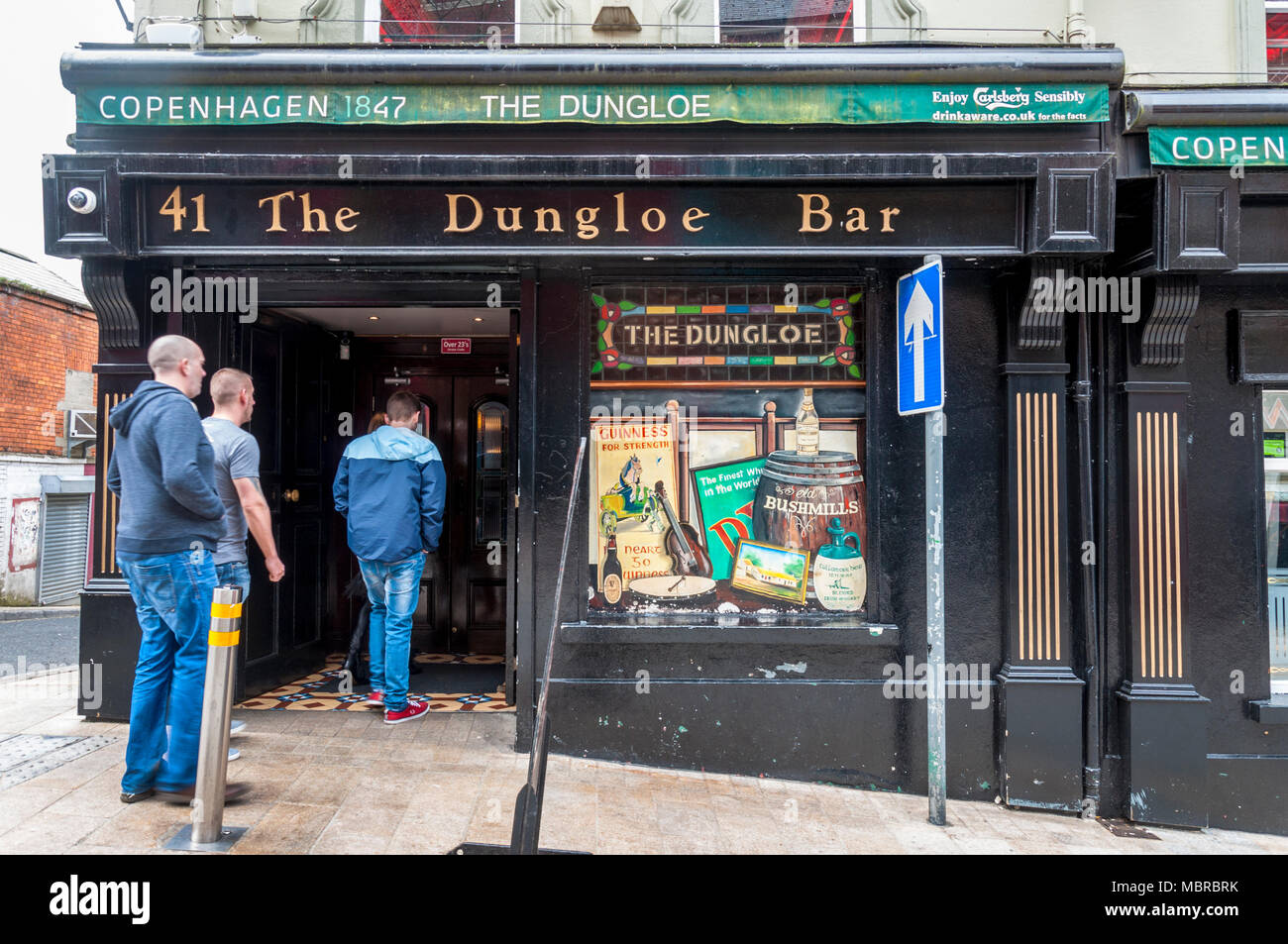 The Dungloe Bar, Derry City, Londonderry, Northern Ireland, UK - Stock Image