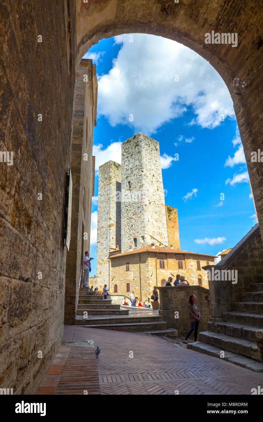 San Gimignano village, Siena district, Tuscany, Italy Stock Photo