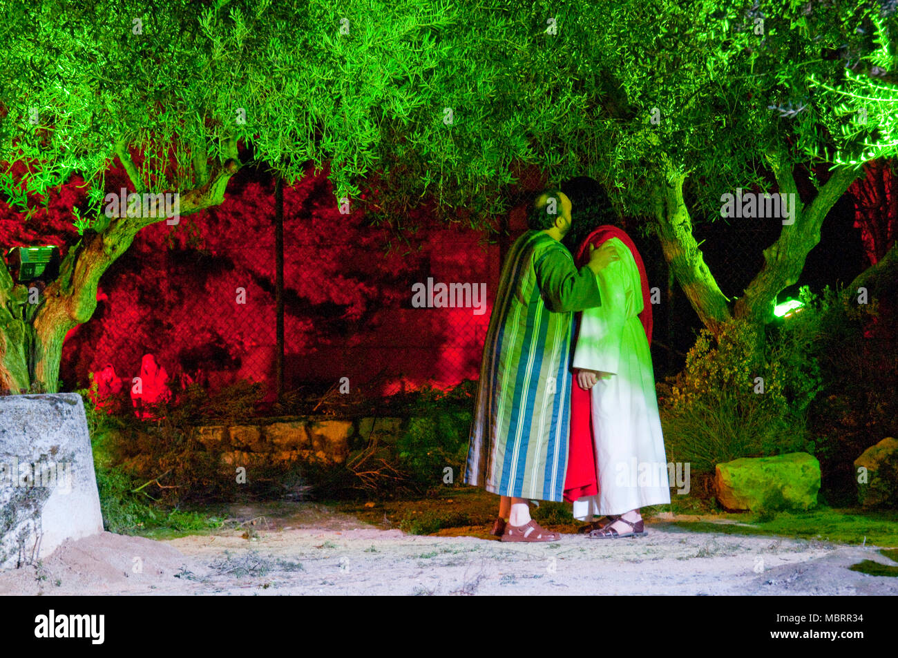 Passion of Chinchon: the Mount of olives scene. Chinchon, Madrid province, Spain. Stock Photo