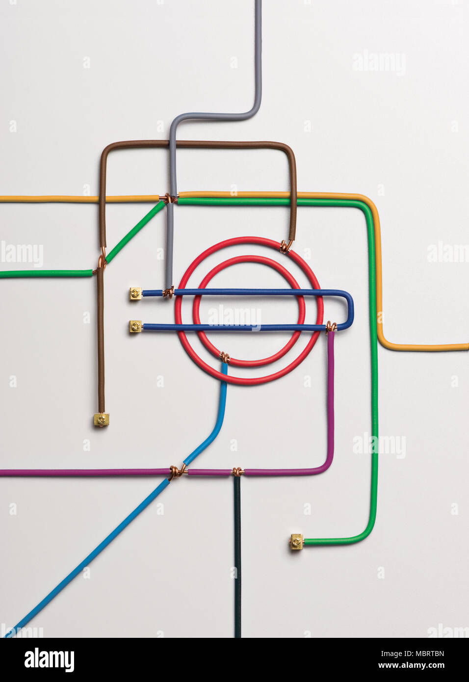 A map of the London underground made from modelling clay - Stock Image