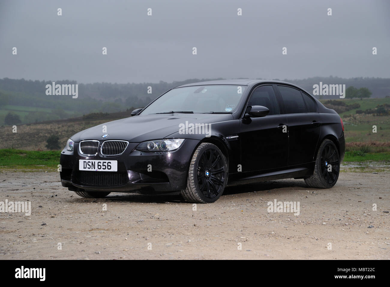 E92 Bmw M3 Sports Saloon Car All Black Murdered Out Look Stock