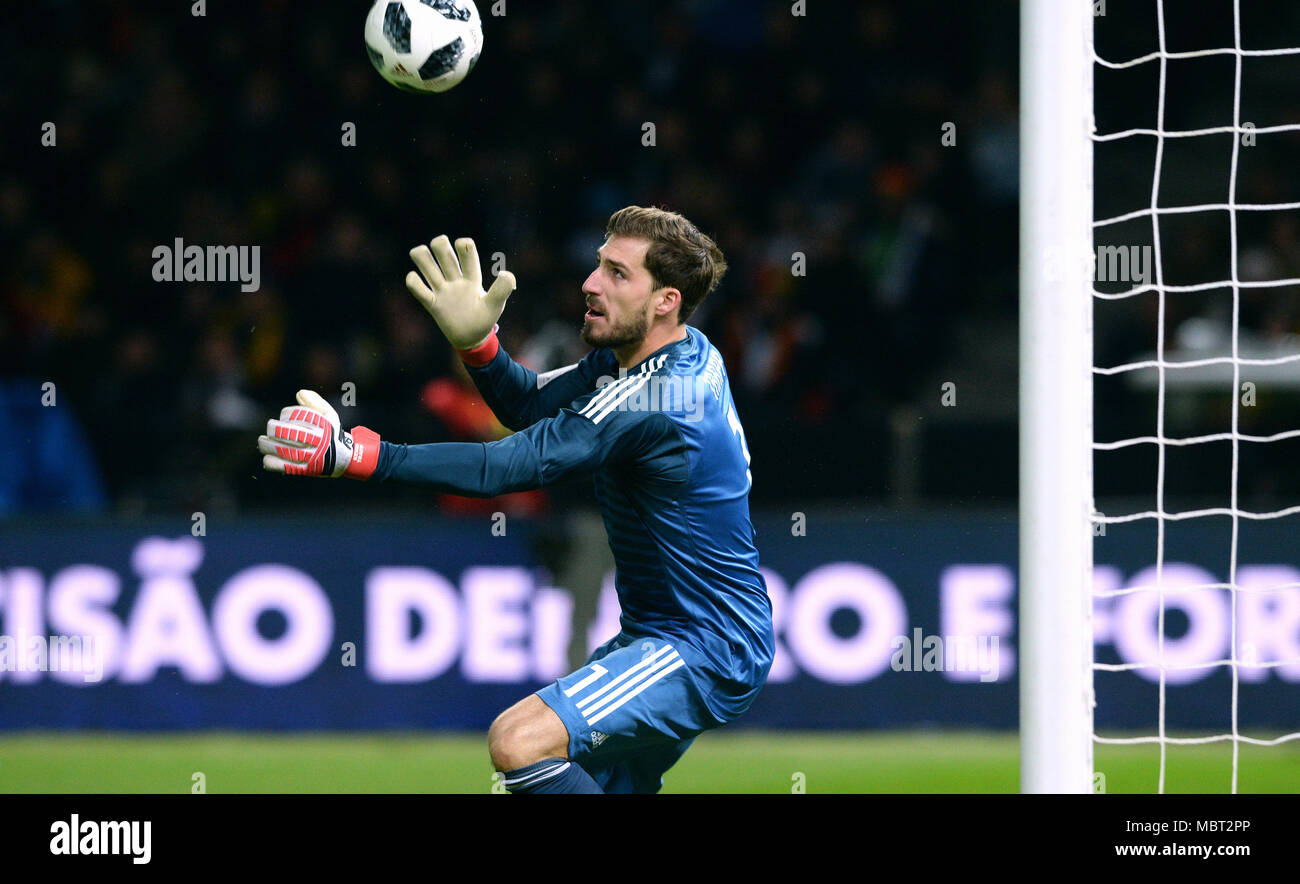 Friendly match between Germany and Brazil, Olympic Stadium Berlin: Kevin Trapp (GER) - Stock Image