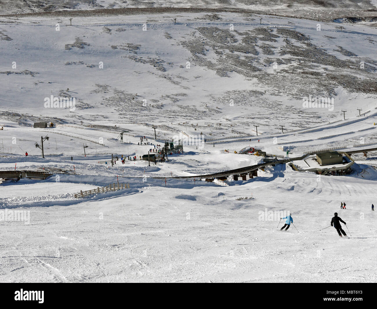 Cairngorm Mountain ski resort in Scotland Stock Photo