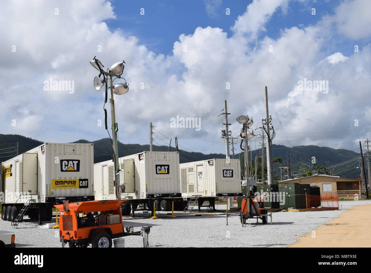 Temporary Power Supply Stock Photos & Temporary Power Supply