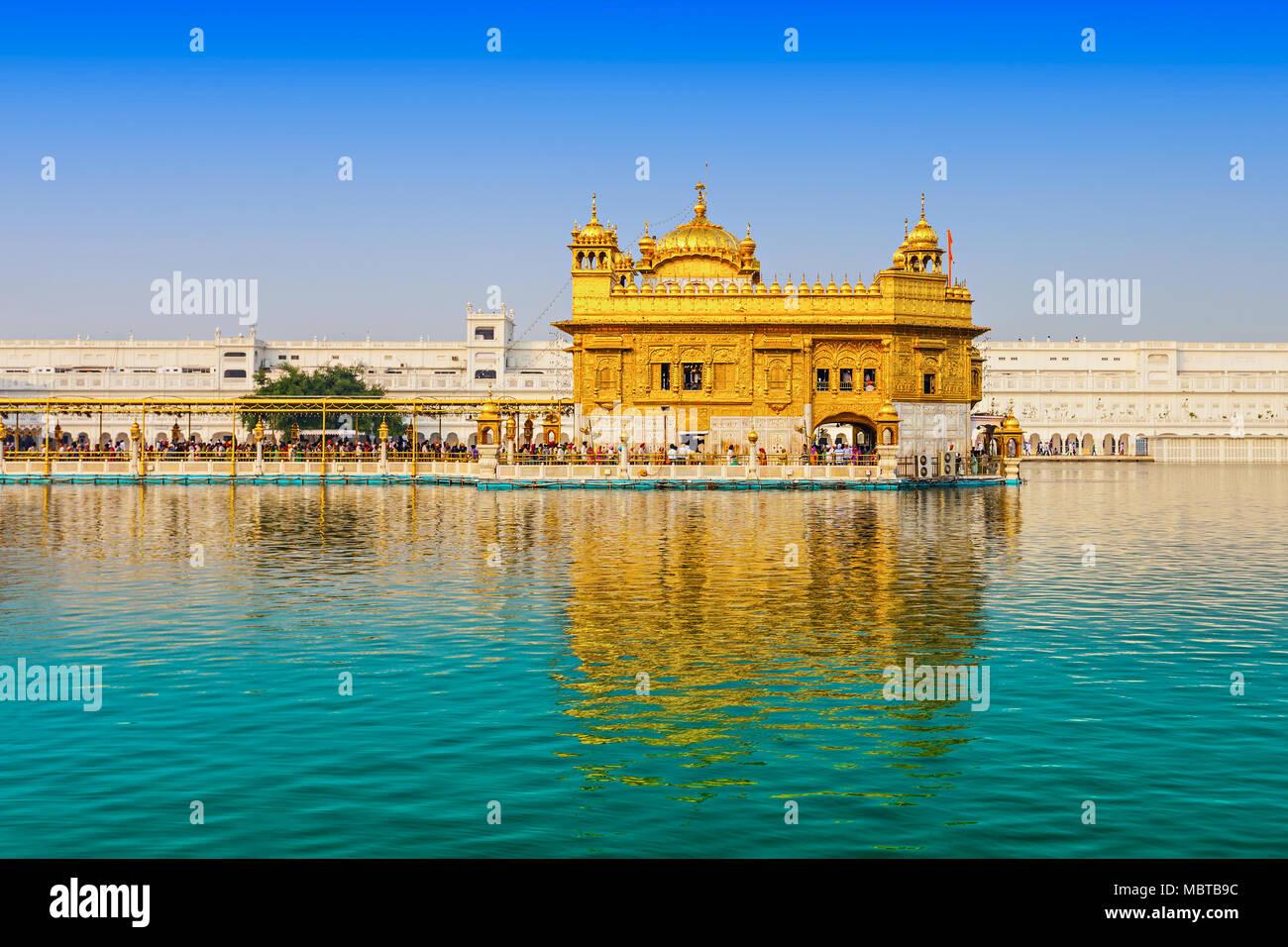 golden temple (harmandir sahib) in amritsar, punjab, india stock
