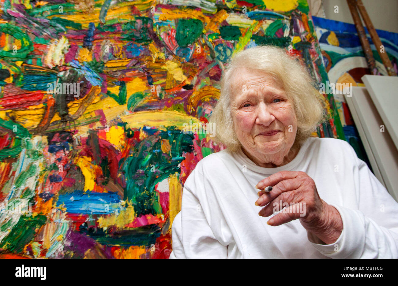 Gillian Ayres, artist, who has died recently Stock Photo