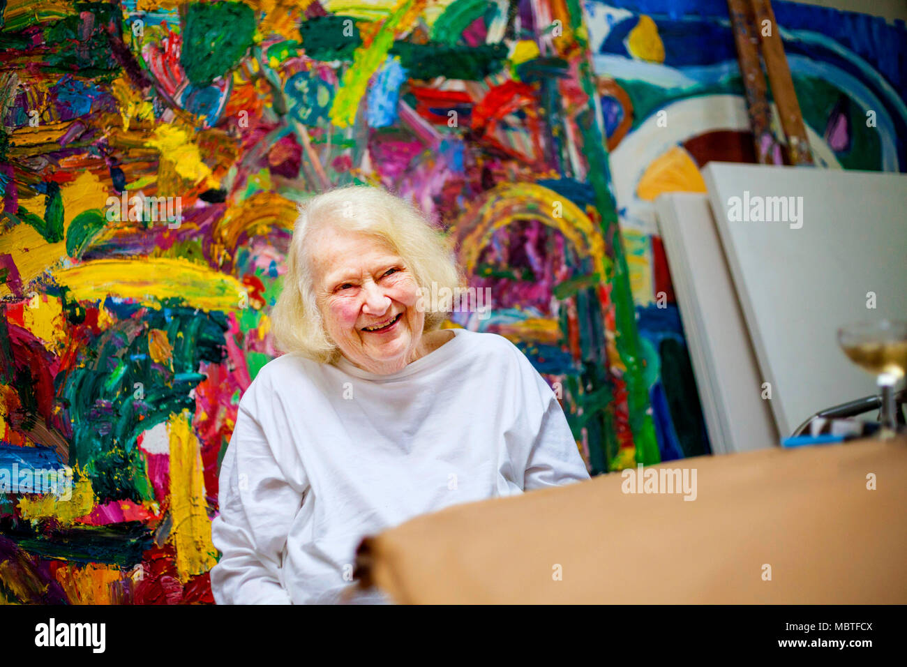 Gillian Ayres, artist, who has died recently - Stock Image