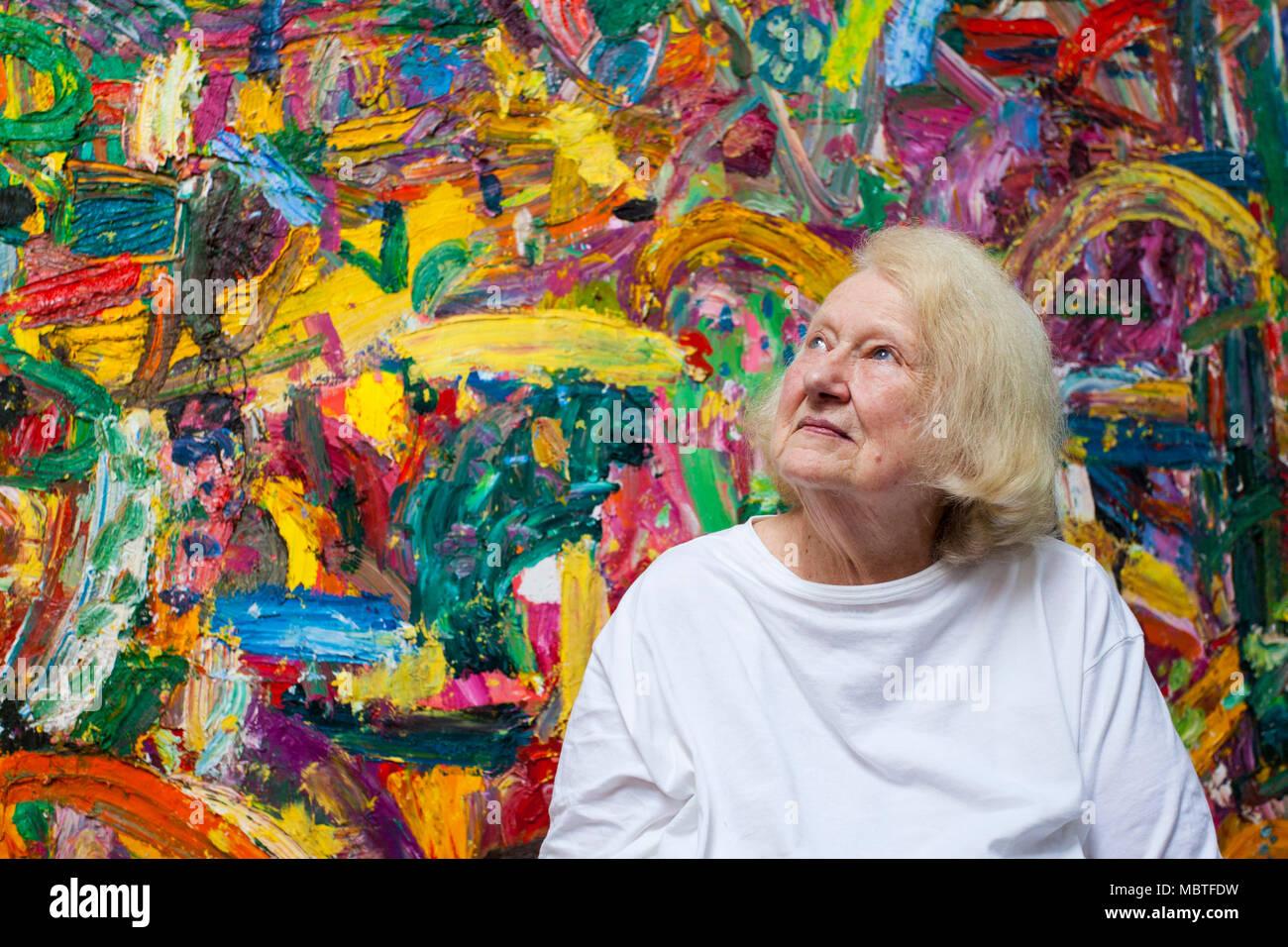 Gillian Ayres, 1930 - 2018 Stock Photo