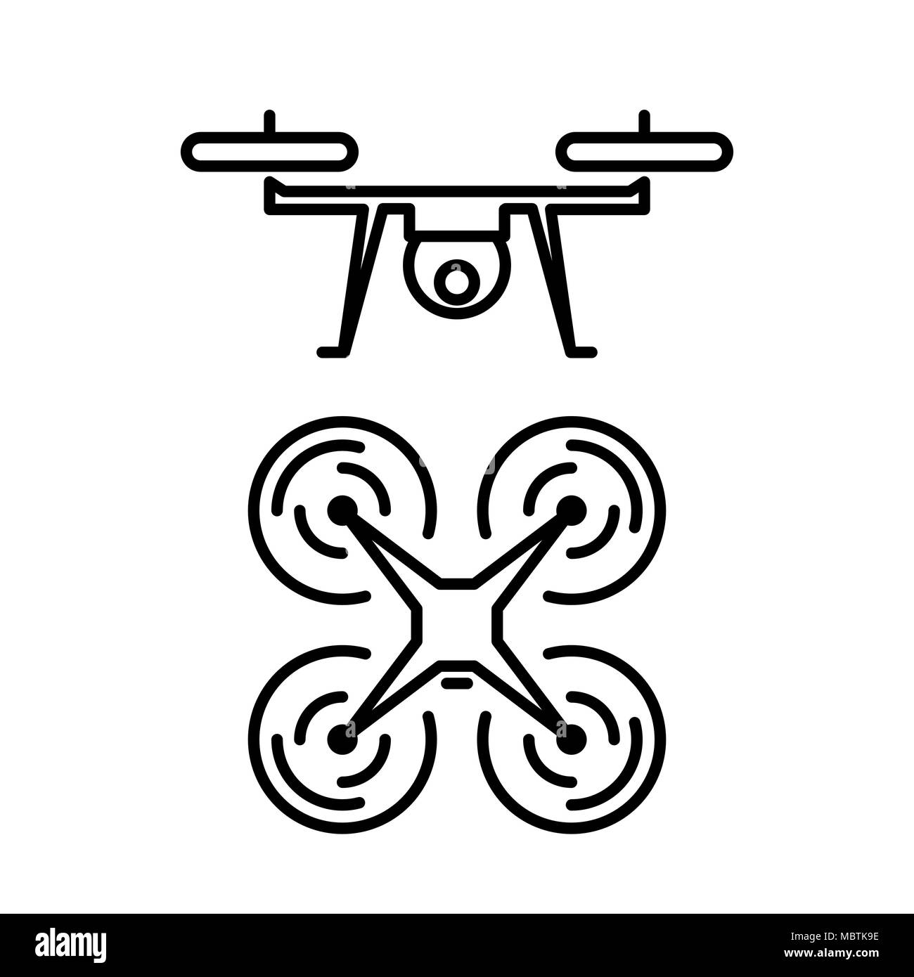 Air drone icon simple flat vector illustration. - Stock Vector