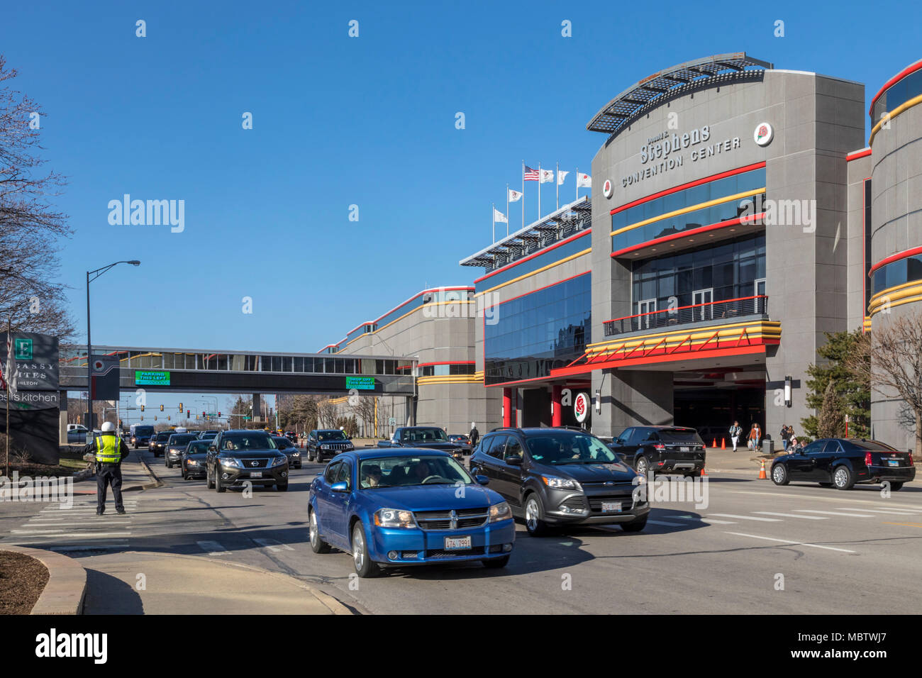 Rosemont, Illinois - The Donald E. Stephens Convention Center near Chicago's O'Hare Airport. - Stock Image