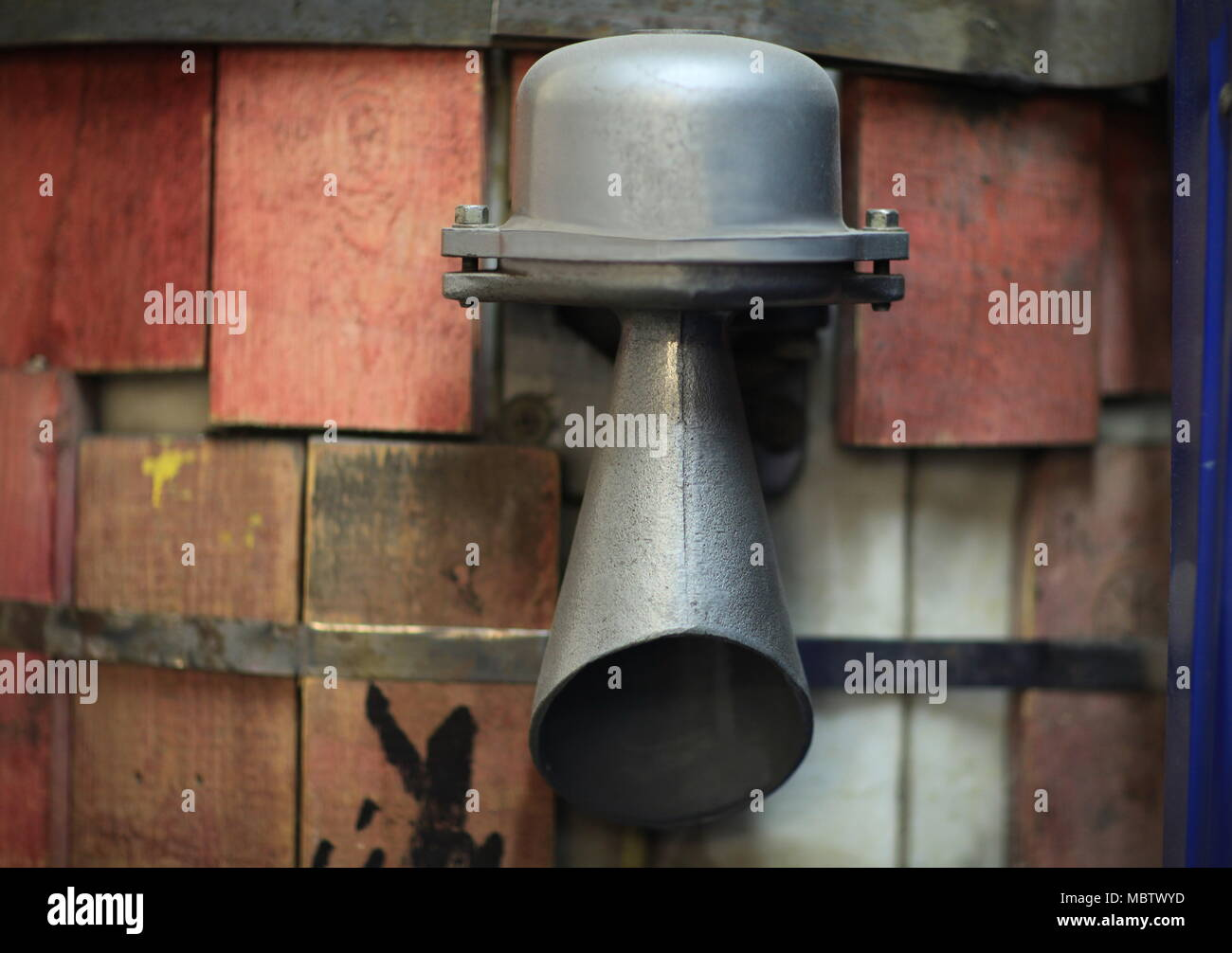 The fog horn Outdoor speakers System - Stock Image