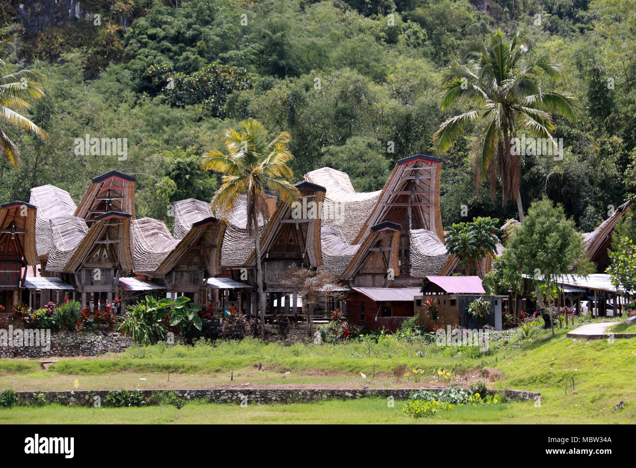 Toraja at it's Best: Ke'te' Kesu World Heritage Site - Stock Image