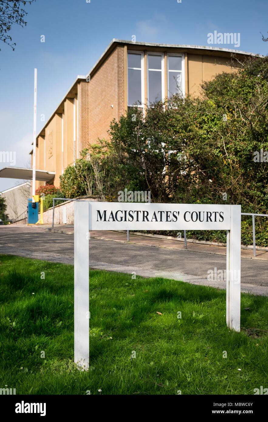 Central Devon Magistrates Court, Exeter, Devon,UK - Stock Image