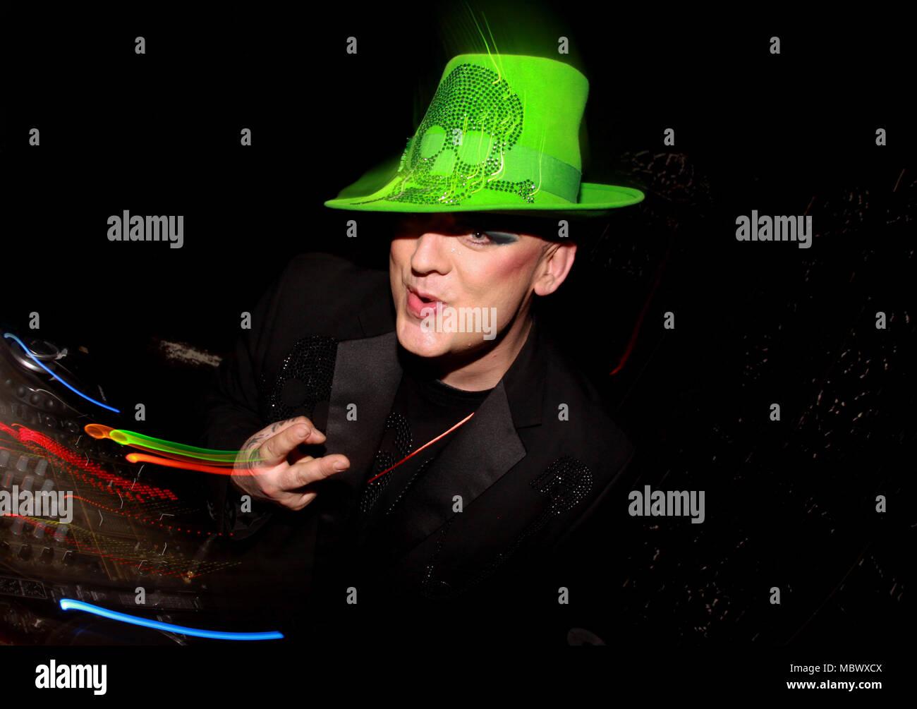 Boy George DJing in Bournemouth - Stock Image