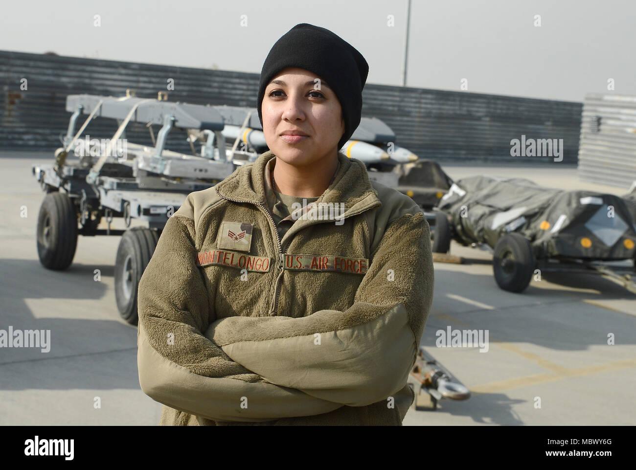 Senior Airman Alyssa Montelongo Left 455th Expeditionary Maintenance Squadron Ammo Line Delivery Crew
