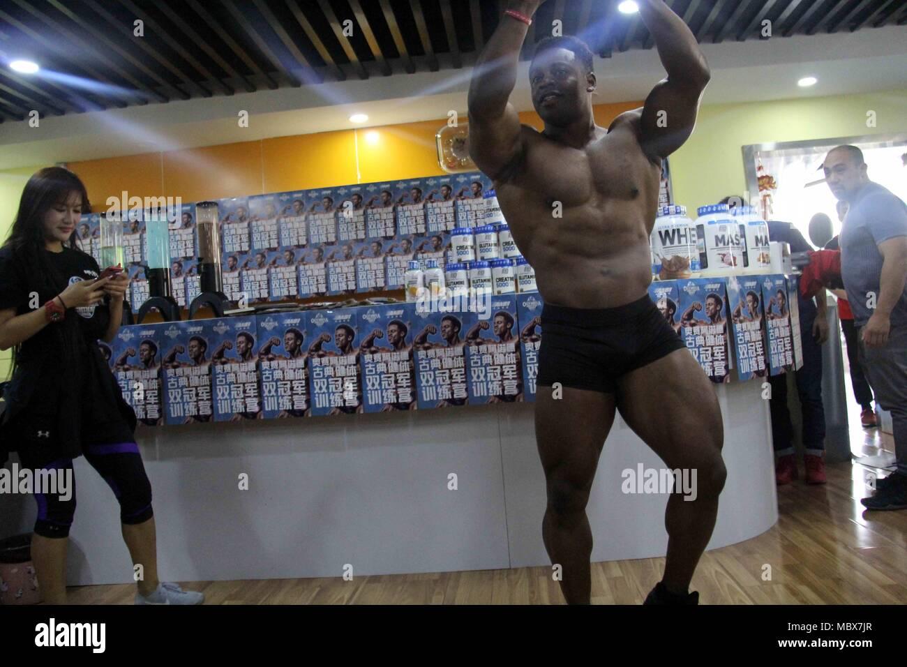 Wuhu Wuhu China 11th Apr 2018 Wuhu China 11th April 2018 Physique Champion Breon Ansley Shares