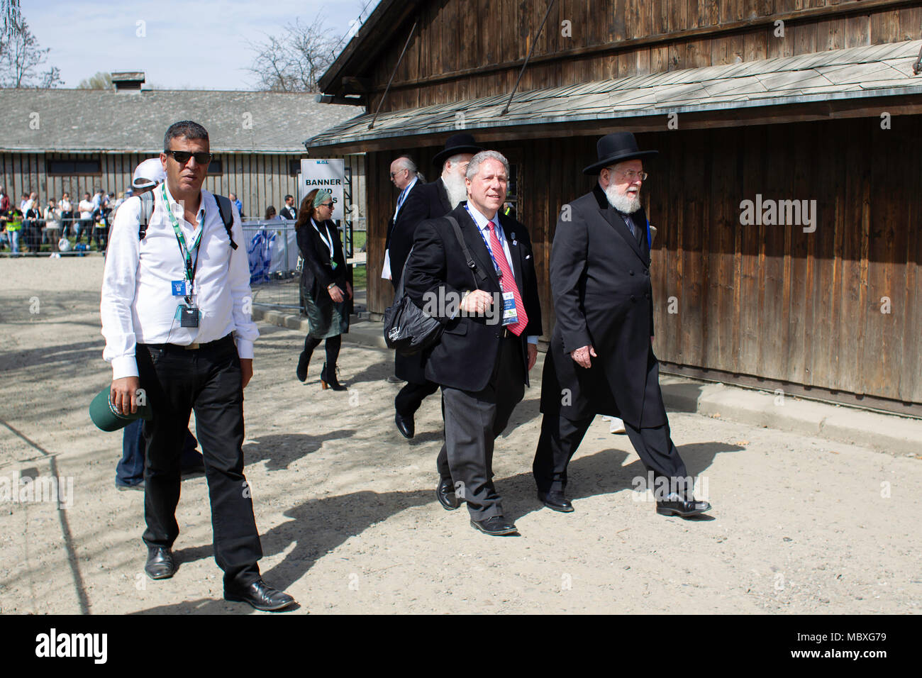 Oswiecim, Poland. 12th Apr 2018. March of the Living. An international event in which Jews from various countries, mainly students and students, visit the Holocaust sites that the Germans created during the war in the occupied Polish territories. Thanks to the participation in the March, young people will also learn about the history of Polish Jews, they also meet with Polish peers and Polish Righteous Among the Nations. Credit: Slawomir Kowalewski/Alamy Live News Stock Photo