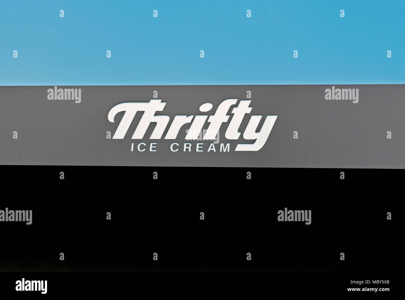 Thrifty Ice Cream sign, California - Stock Image