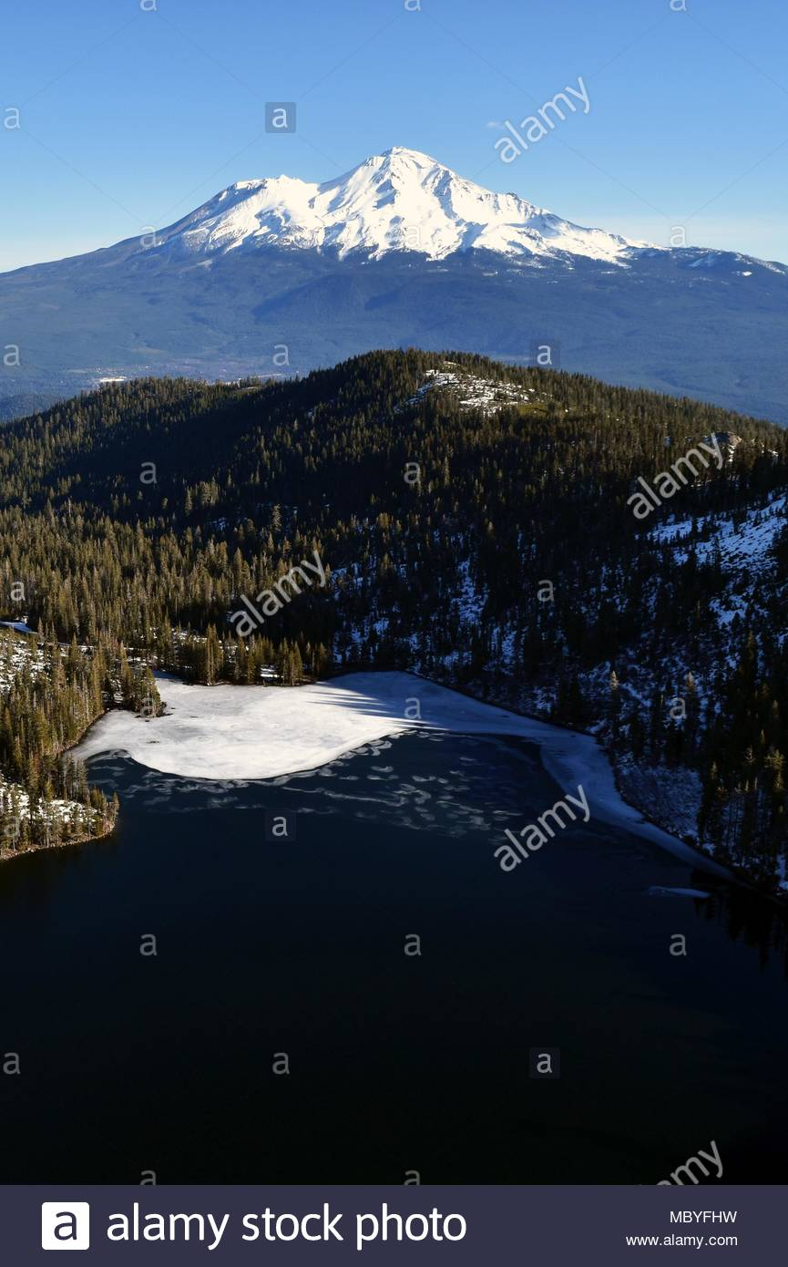 Castle Lake, Mount Shasta, California - Stock Image