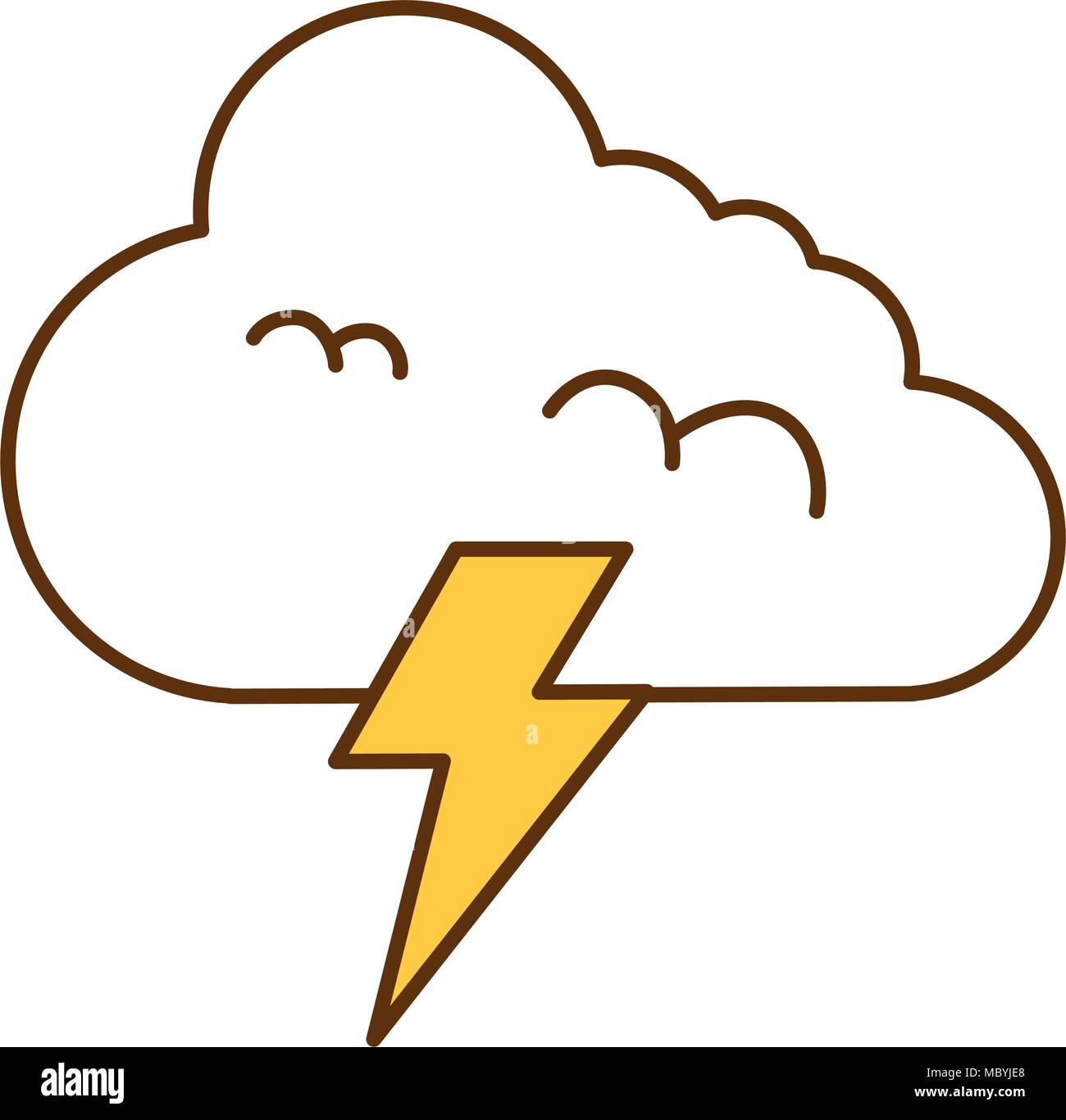 climate cloud with thunder vector illustration design stock vector image art alamy alamy