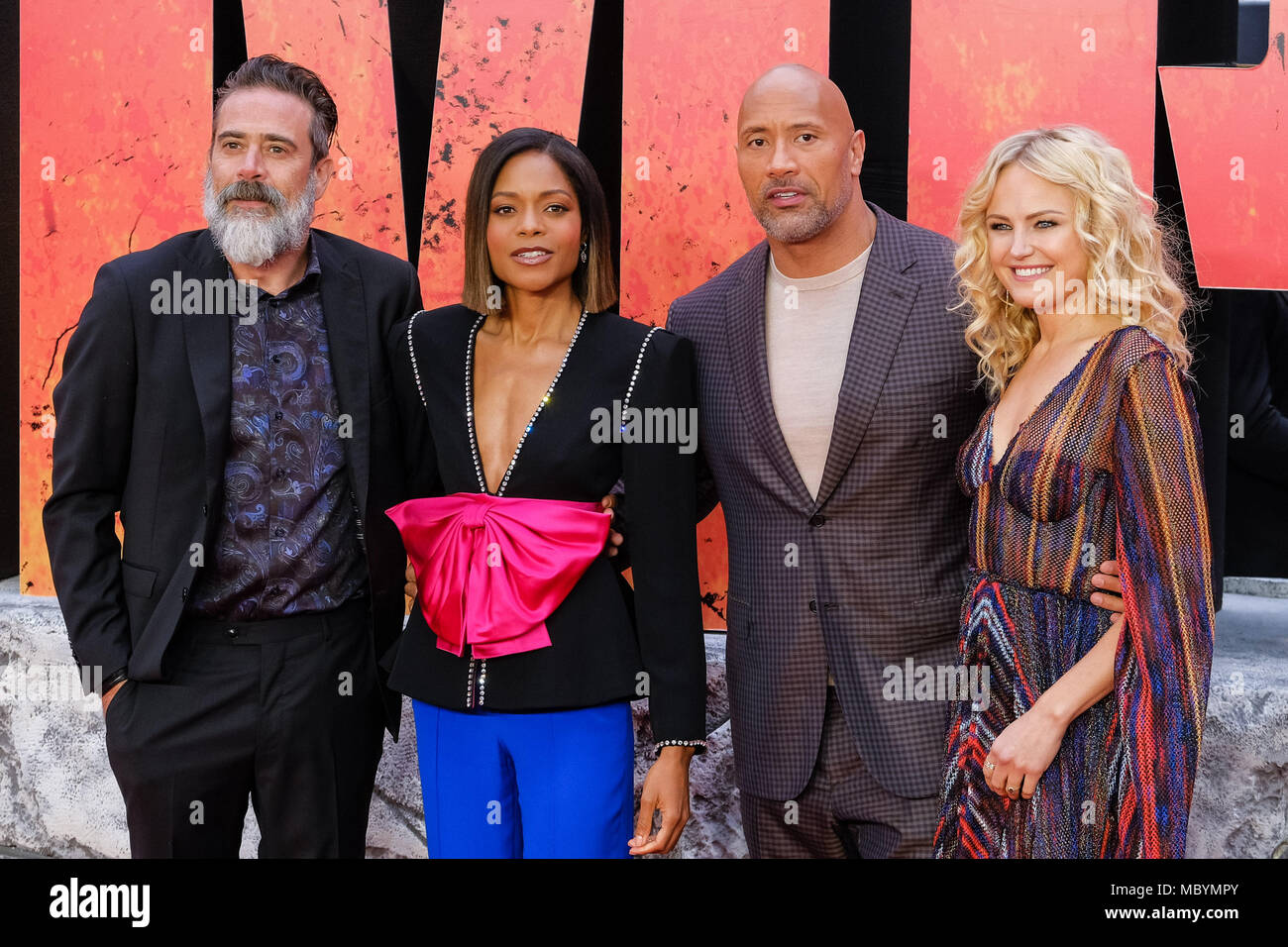 ¿Cuánto mide Dwayne Johnson (The Rock)? - Altura - Real height - Página 2 Cast-at-european-premiere-of-rampage-on-wednesday-11-april-2018-held-at-cineworld-leicester-square-london-pictured-dwayne-johnson-the-rock-naomie-harris-malin-akerman-jeffrey-dean-morgan-MBYMPY