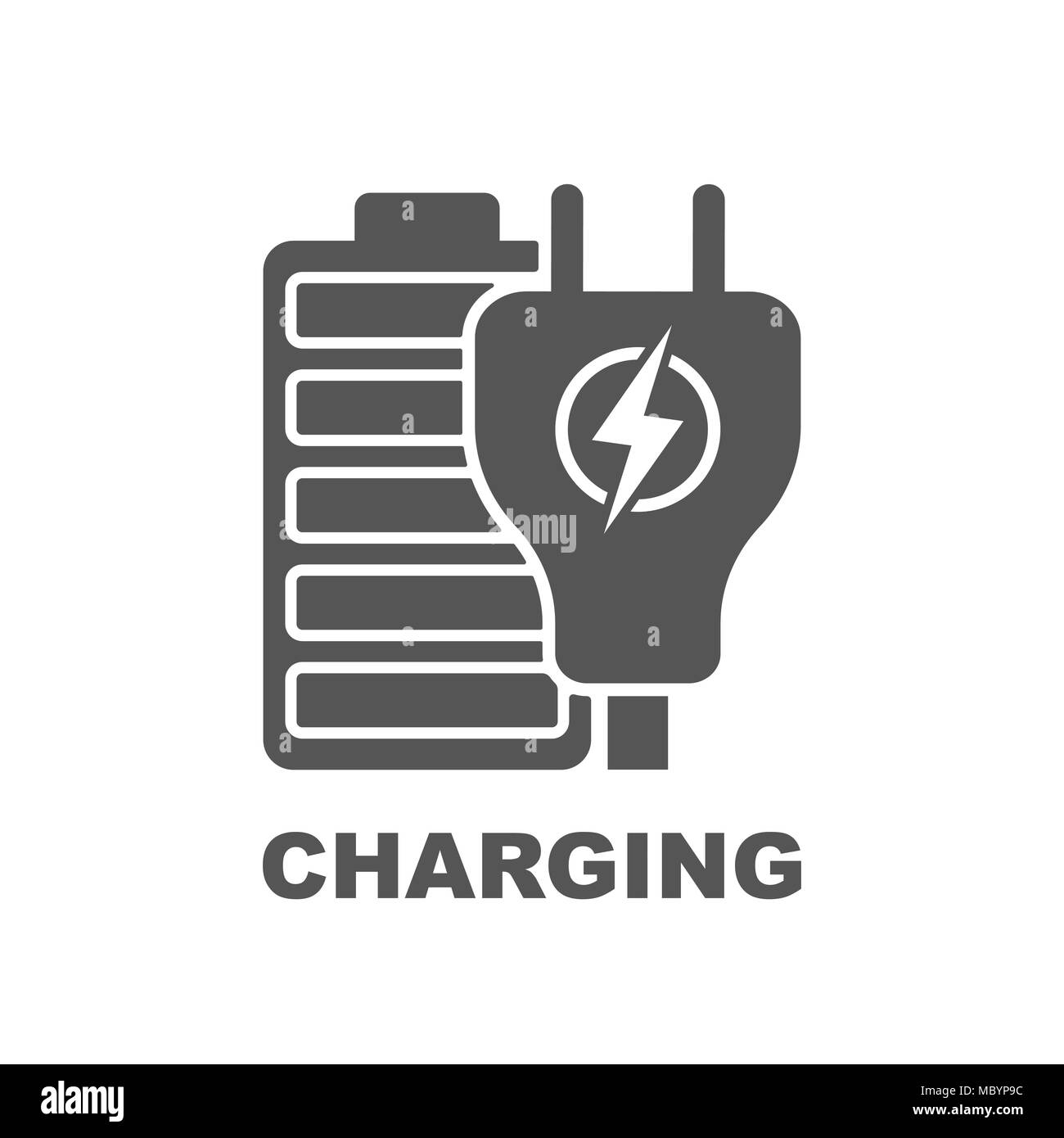 Battery Charging vector icon - Stock Vector