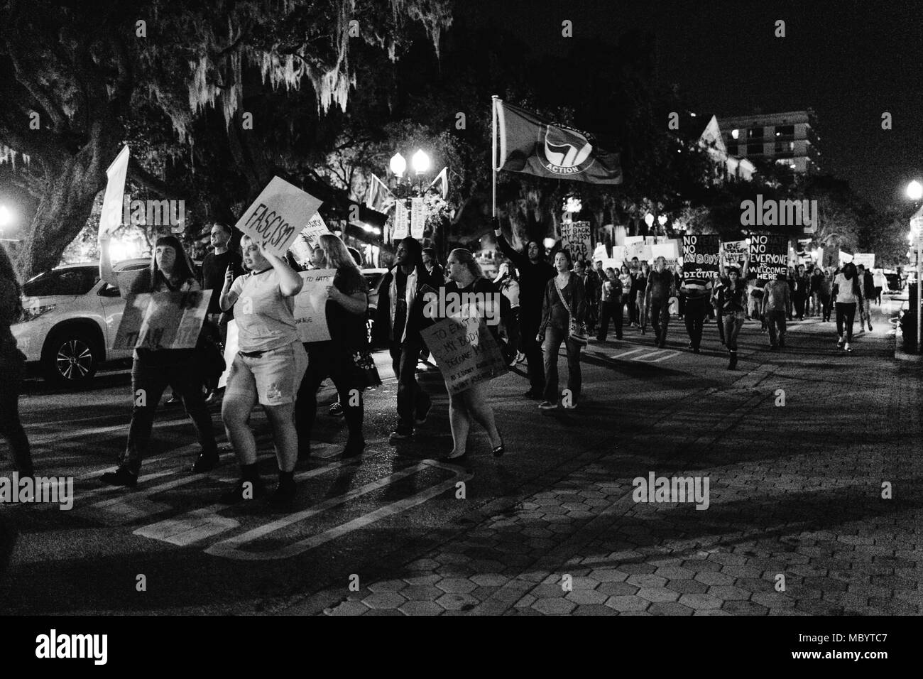 Peaceful Protest Black and White Stock Photos & Images - Alamy