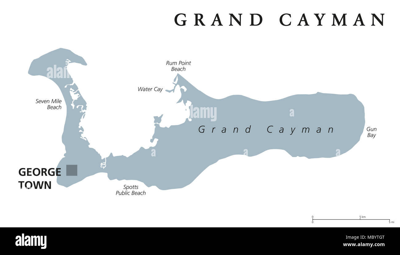 Cayman Islands Cities Map on