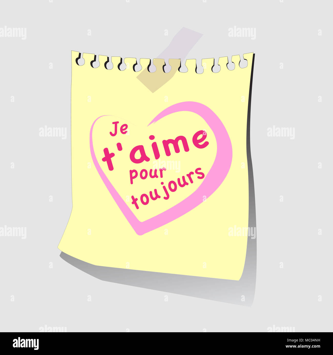 French Words Je Taime Pour Toujours And Traslate To English Is Meaning I Love You Forever Couple Lover Is Writes Wording On Paper Note And Stick It