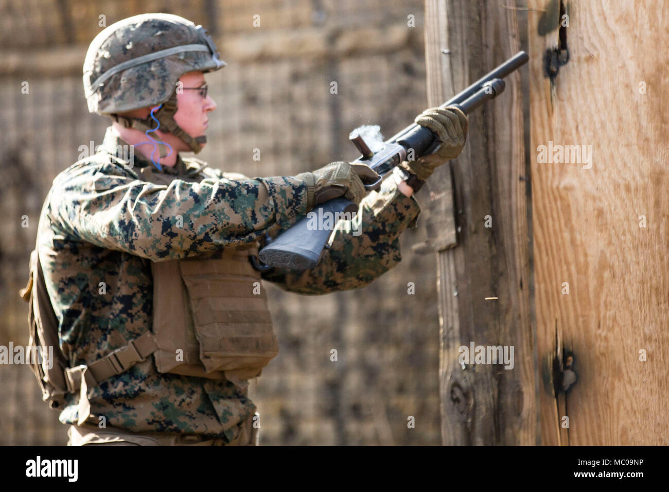 A U S  Marine Corps Infantry Assault Marine with 3rd