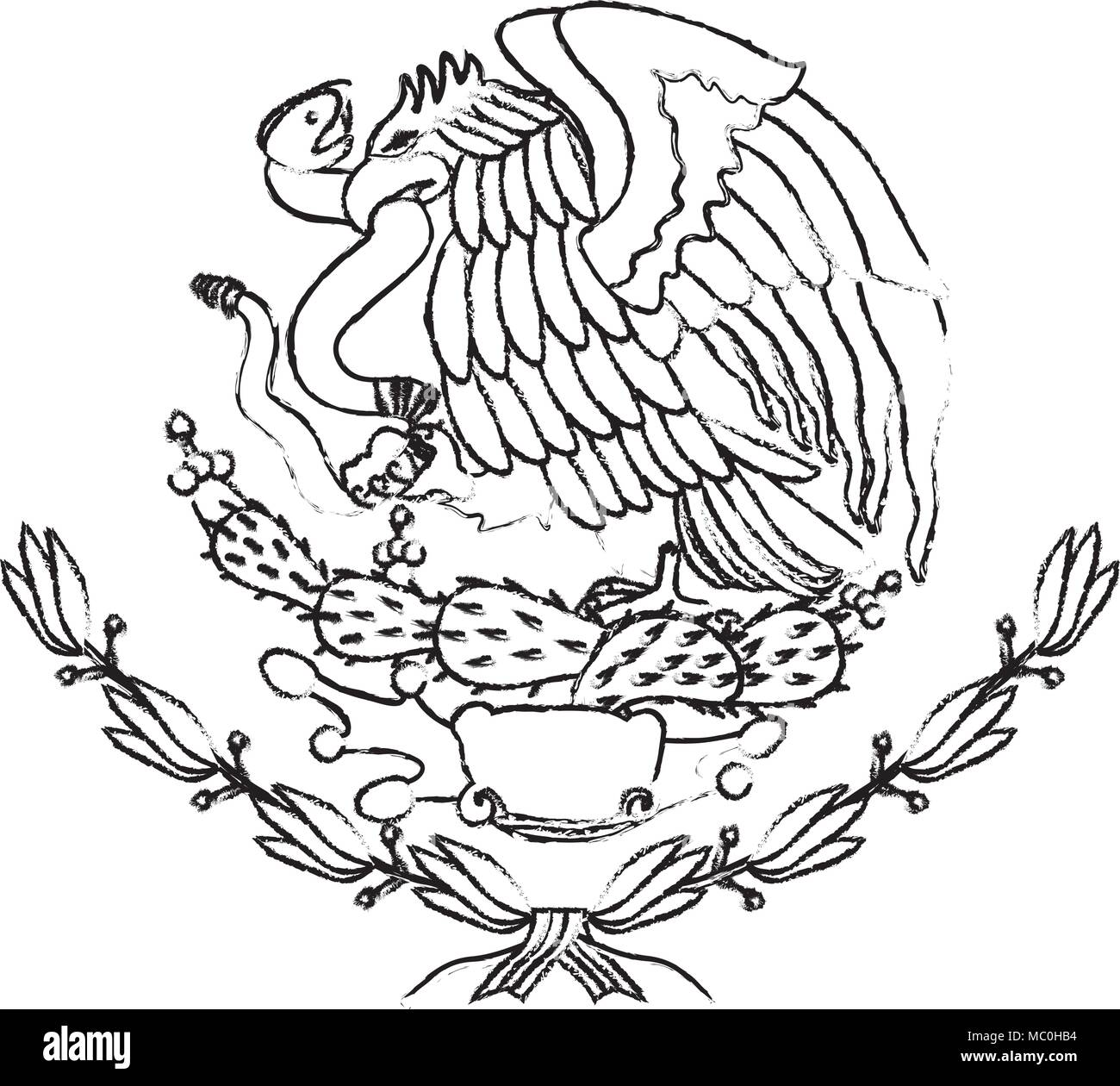 patriotism black and white stock photos images alamy French Revolution Flags K emblem of the mexican flag stock image