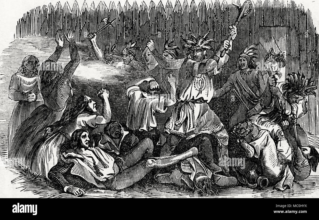 Massacre at Fort Mims - Stock Image