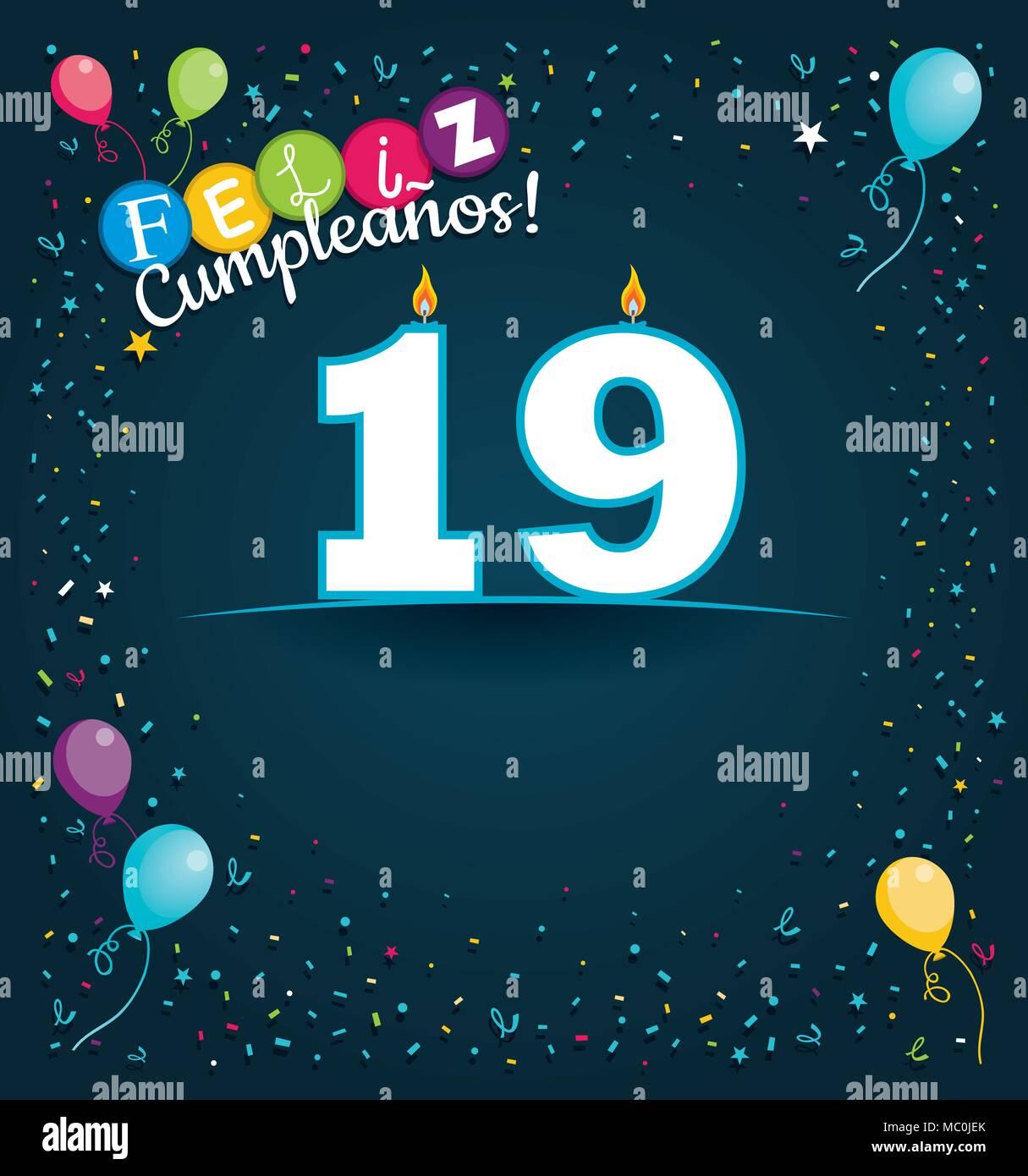 Happy Birthday 19 In Spanish Language