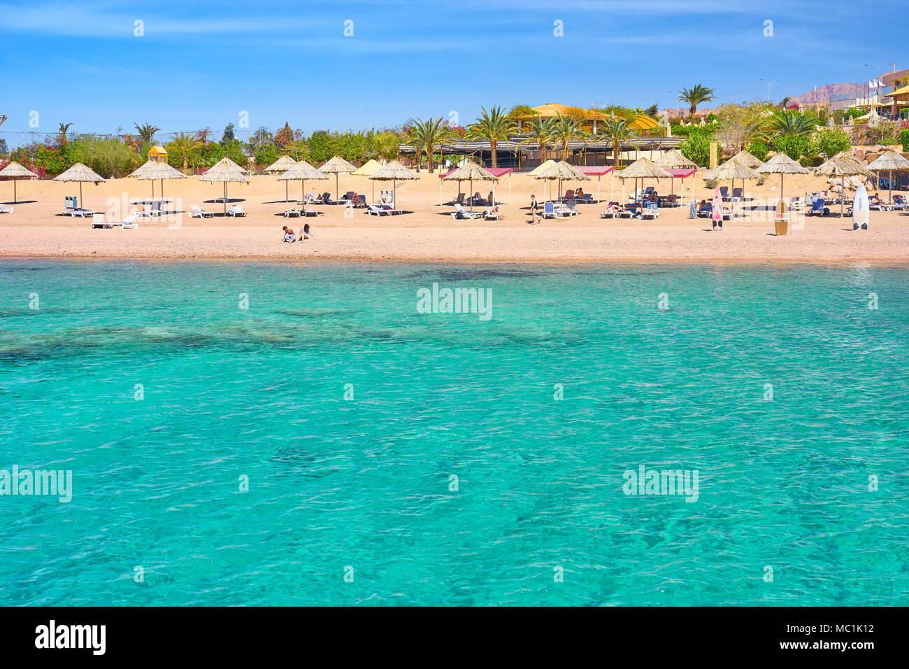 Beach resort Berenice, Aqaba, Jordan Stock Photo