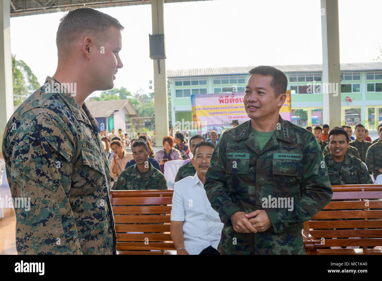 Royal Thai Marine Col  Surachet Thawornkhajornsiri speaks
