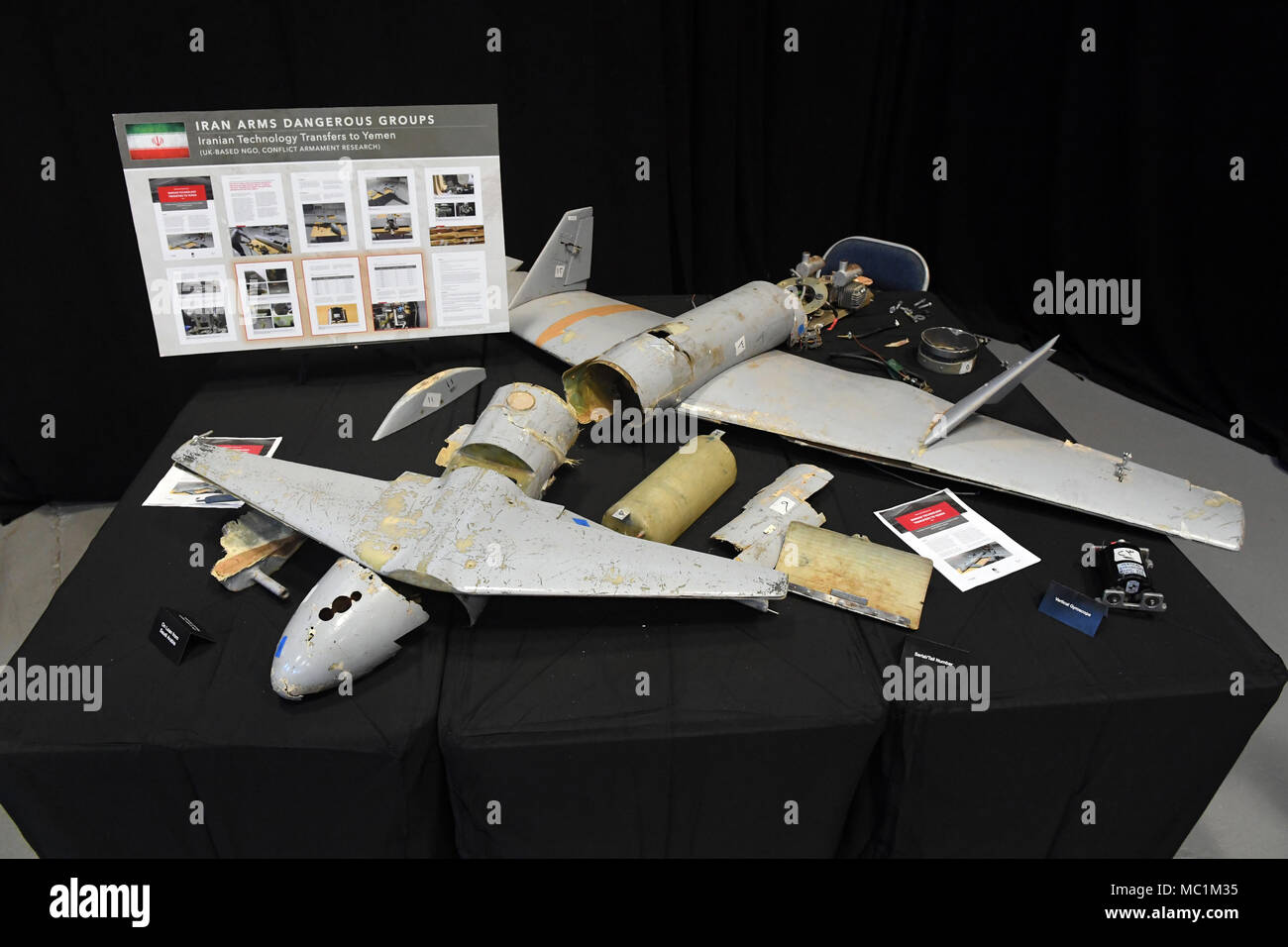 Serial numbers provide links to the origin of an Iranian unmanned aerial attack vehicle on display & Evidence Numbers Stock Photos u0026 Evidence Numbers Stock Images - Alamy