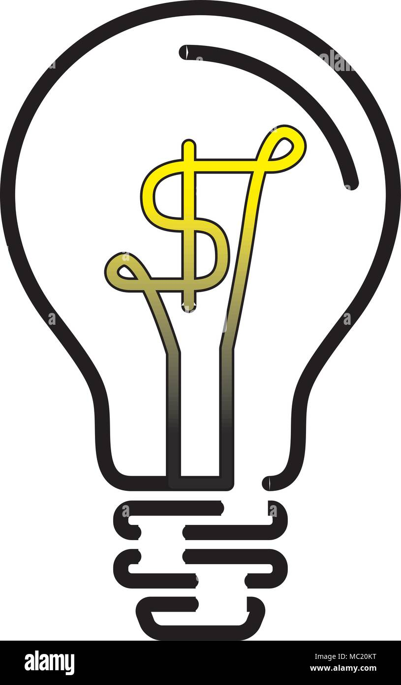 Light Bulb Lamp with US Dollar currency symbol Stock Vector Art ...