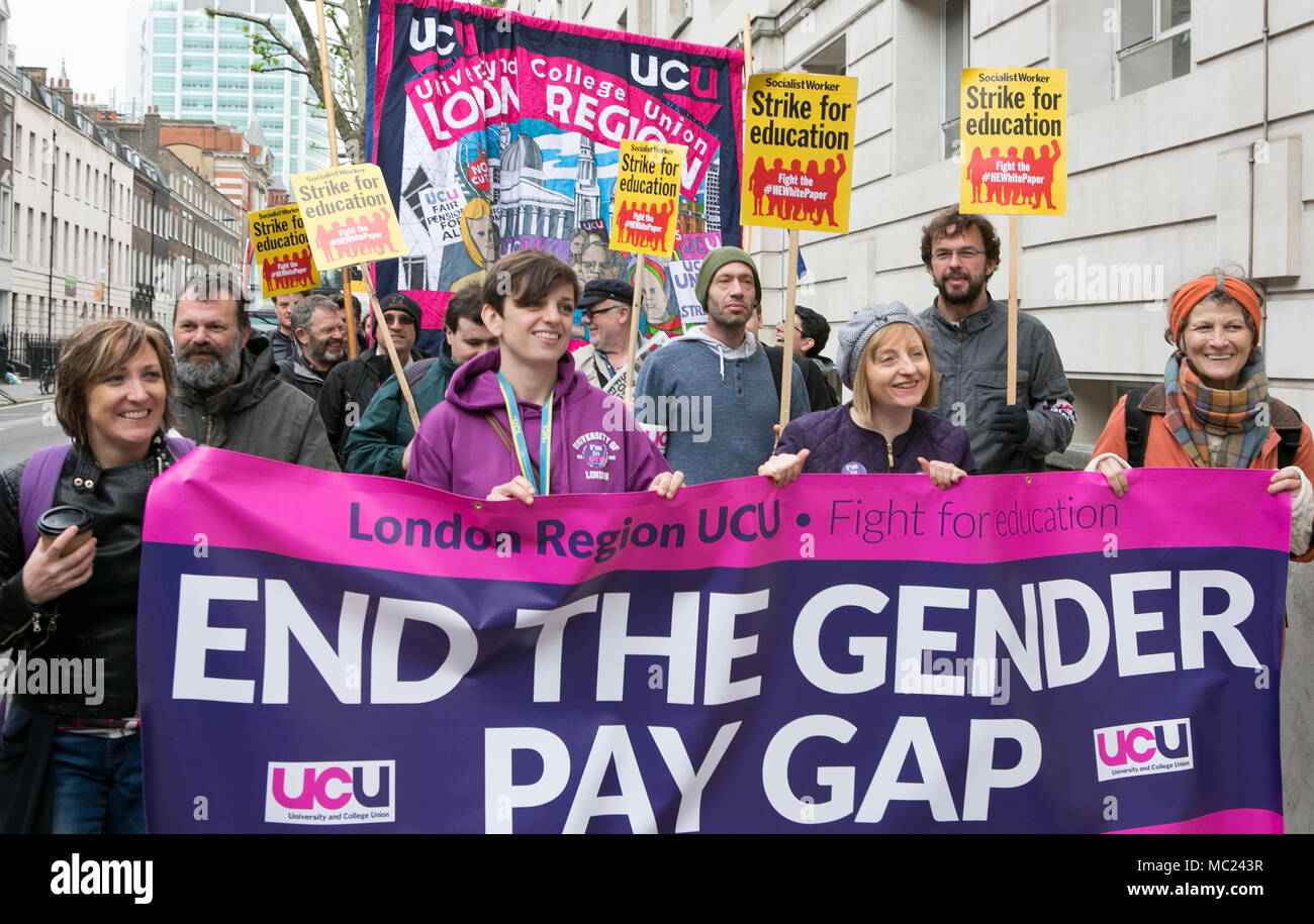 End the Gender Pay Pap UCU University Lecturers Demonstration London UK 25th May 2016 during 48 hour industrial action following collapse of pay talks. - Stock Image