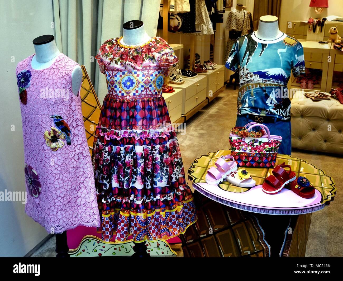 Dolce & Gabbana - Fashion Florence Italy - Stock Image