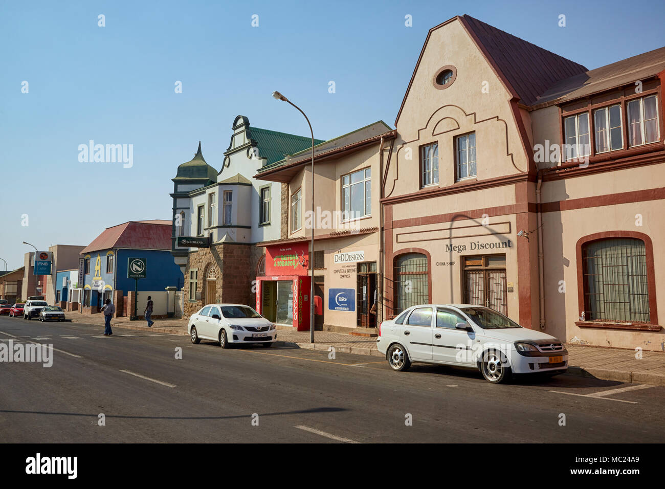 Bismarck Street in Luderitz, Namibia, Africa - Stock Image