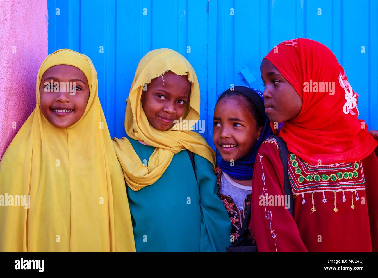 Ethiopian Schoolchildren, Harar, Ethiopia - Stock Image