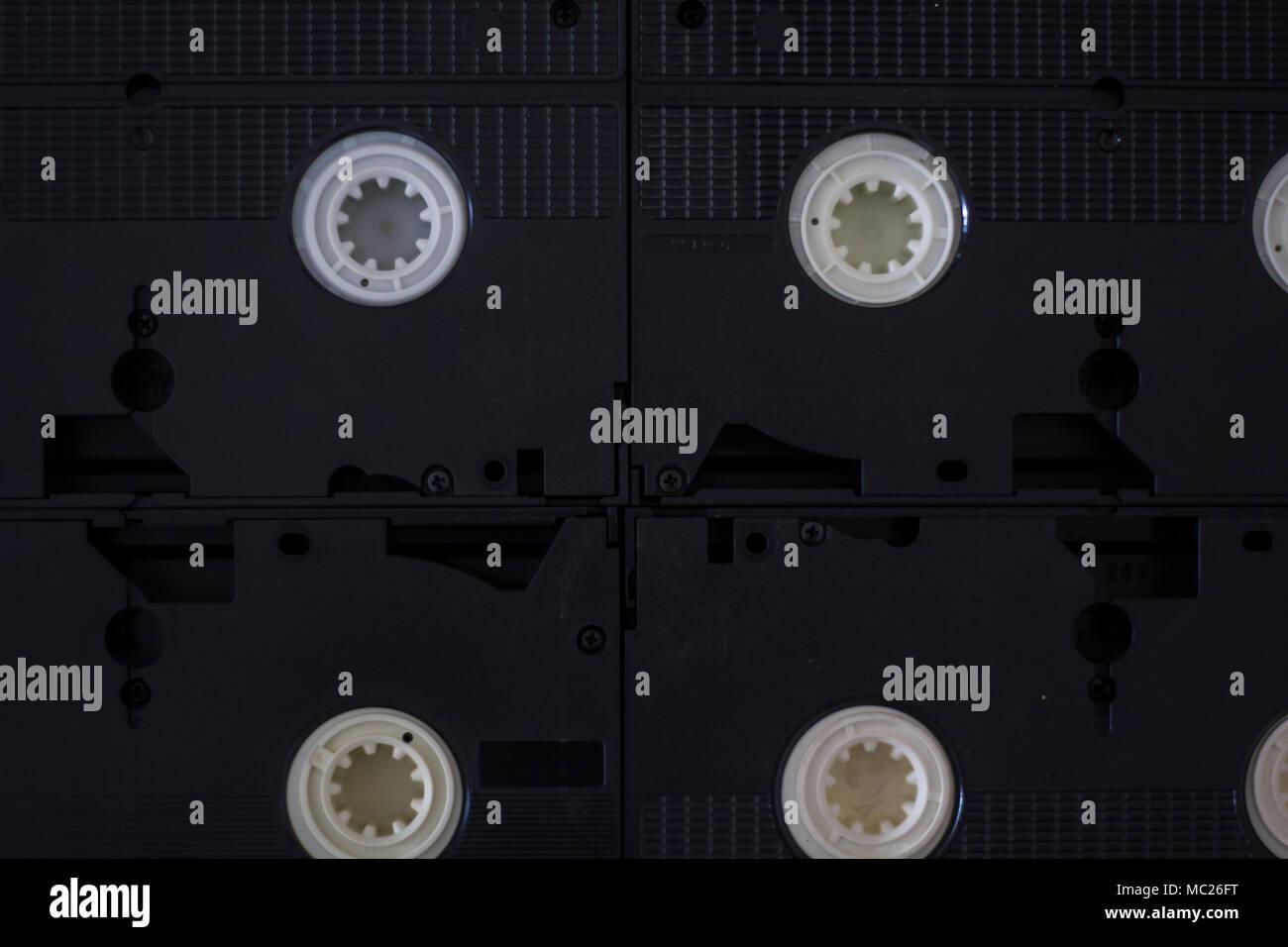 Vhs cassette tapes - Stock Image