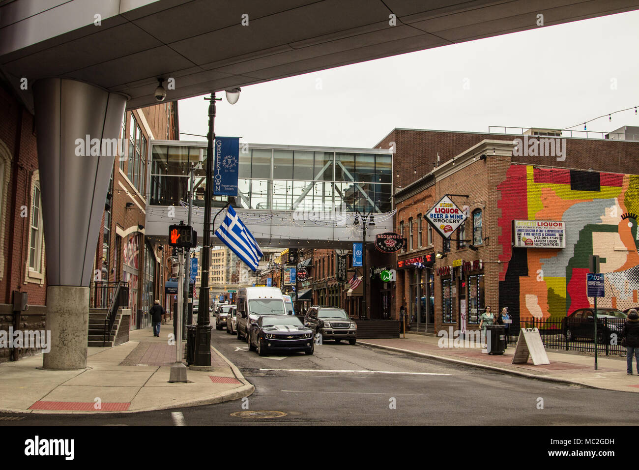 The Historic Greektown District In Downtown Detroit The District