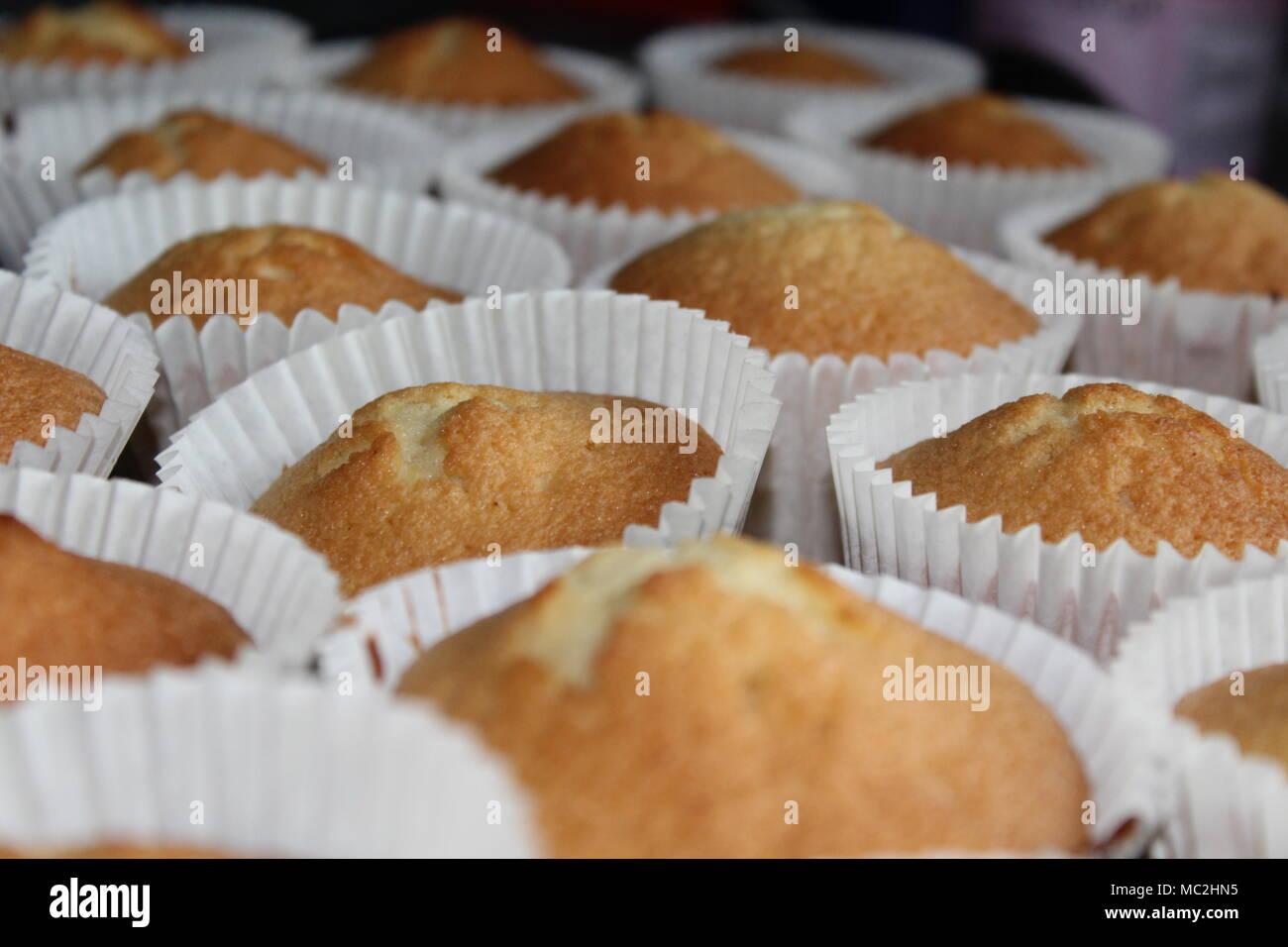 Freshly baked cakes - Stock Image
